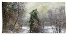 After The First Snowfall Beach Towel by John Rivera