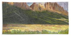 After The Monsoon Organ Mountains Beach Towel by Jack Pumphrey