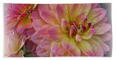 After The Rain - Dahlias Beach Sheet by Dora Sofia Caputo Photographic Art and Design
