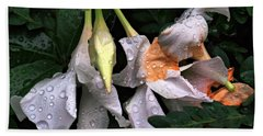 After The Rain - Flower Photography Beach Towel