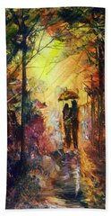 Beach Towel featuring the painting After The Rain by Raymond Doward