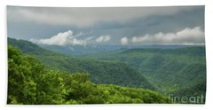 Beach Sheet featuring the photograph After The Rain - The Bluestone Gorge At Pipestem State Park by Kerri Farley
