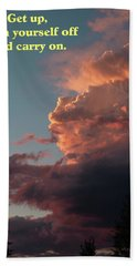 Beach Towel featuring the photograph After The Storm Carry On by DeeLon Merritt