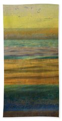 Beach Towel featuring the photograph After The Sunset - Yellow Sky by Michelle Calkins
