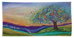 Beach Sheet featuring the painting Afterglow - This Beautiful Life by Tanielle Childers