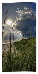 Afternoon At A Sanibel Dune Beach Towel by Chrystal Mimbs