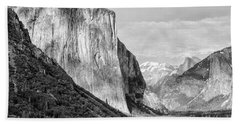 Beach Towel featuring the photograph Afternoon At El Capitan by Sandra Bronstein
