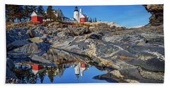 Afternoon At Pemaquid Point Beach Towel