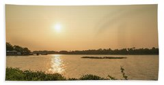 Afternoon Huong River Beach Towel