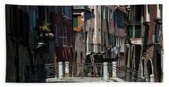 Beach Towel featuring the photograph Afternoon In Venice by Alex Lapidus