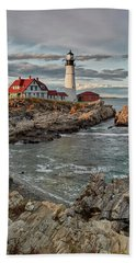 Afternoon Light At Cape Neddick Beach Towel