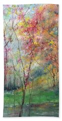 Afternoon On The River Beach Towel by Robin Miller-Bookhout