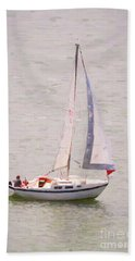 Beach Towel featuring the photograph Afternoon Sail by James BO Insogna