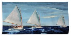 Afternoon Sailers Beach Towel