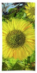 Afternoon Sunflowers Beach Towel