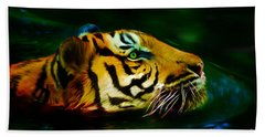 Afternoon Swim - Tiger Beach Towel