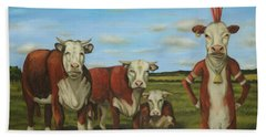 Beach Sheet featuring the painting Against The Herd by Leah Saulnier The Painting Maniac