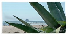 Beach Sheet featuring the photograph Agave Ocean Sky by Yurix Sardinelly