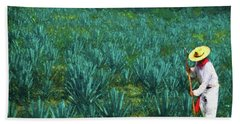 Agave Worker Beach Towel