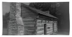 Aged Cabin At The Hermitage Beach Towel