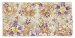 Aged Flower Clown Pattern Beach Sheet