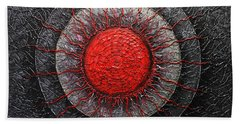 Red And Black Abstract Beach Towel