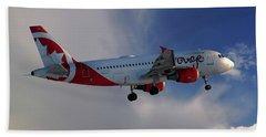 Air Canada Rouge Airbus A319-114 Beach Towel