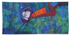 Beach Towel featuring the painting air by Donna Howard