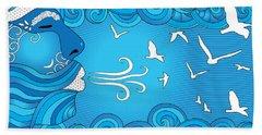 Air Element Beach Towel by Serena King