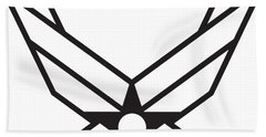 Air Force Logo Beach Towel