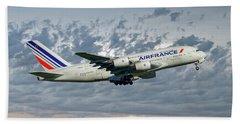 Air France Airbus A380-861 113 Beach Towel