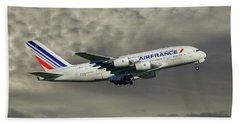 Air France Airbus A380-861 116 Beach Towel