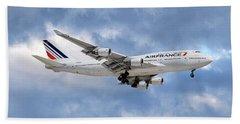 Air France Boeing 747-428 118 Beach Towel