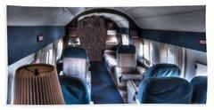 Airplane Interior Beach Towel
