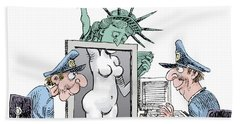 Airport Security And Liberty Beach Sheet