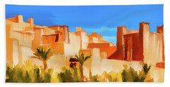 Ait Benhaddou Morocco Beach Towel by Wally Hampton