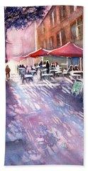 Aix En Provence Early Morning Coffee Beach Towel