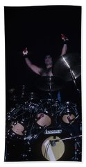 A.j. Pero Of Twisted Sister Beach Towel