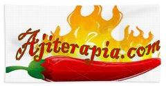 Ajiterapia Logo Beach Towel