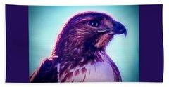 Ak-chin Red-tailed Hawk Portrait Beach Towel