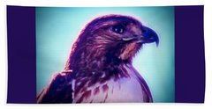 Ak-chin Red-tailed Hawk Portrait Beach Sheet