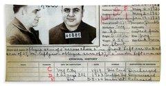 Al Capone Mugshot And Criminal History Beach Towel