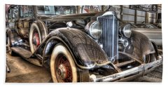 Al Capone's Packard Beach Towel by Nicholas  Grunas