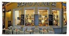 Al Fresco Dining Bavarian Style Beach Towel