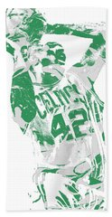 Al Horford Boston Celtics Pixel Art 8 Beach Towel