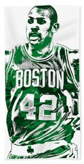 Al Horford Boston Celtics Pixel Art Beach Towel