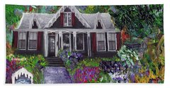 Alameda 1854 Gothic Revival - The Webster House Beach Towel