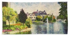 Alameda Marina Village 1 Beach Towel by Linda Weinstock