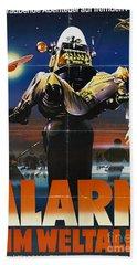 Alarm Im Weltall German Forbidden Planet Movie Poster Beach Towel