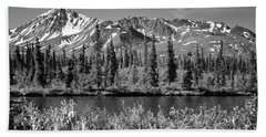 Beach Towel featuring the photograph Alaska Mountains by Zawhaus Photography